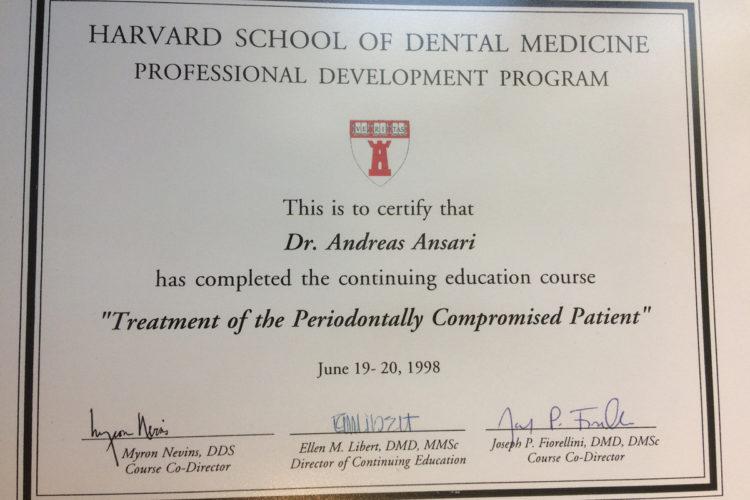 Zertifikate DDr. Ansari